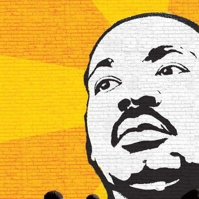 Martin Luther King, Jr. headshot, drawing