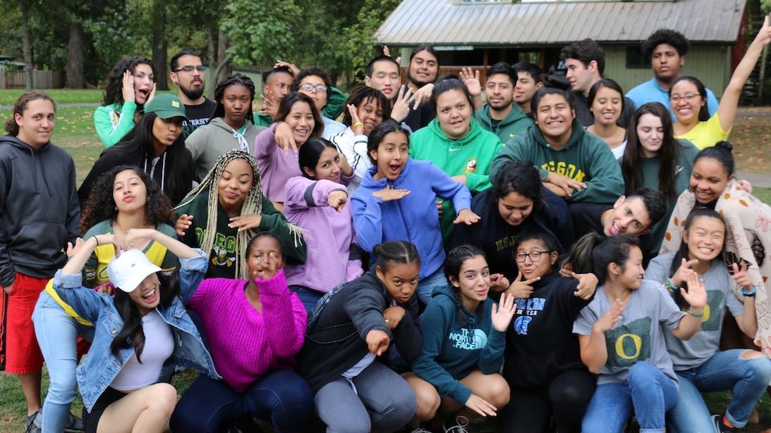 New Student Fall Retreat 2018 group photo