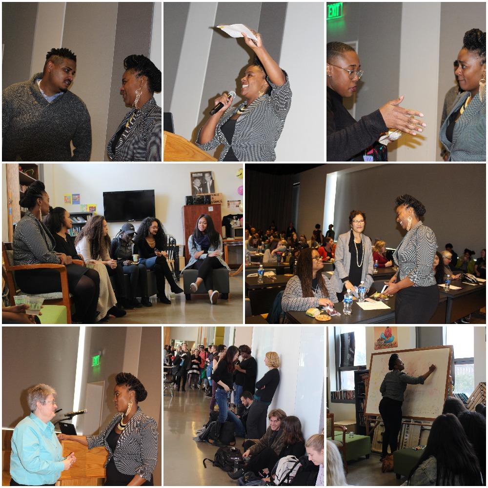 Alisia Moreland- Capuia. African American Speaker Series. 3_18. Collage.