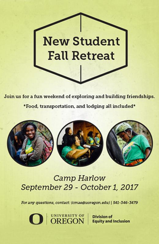 New Student Fall Retreat, September 29, - October 1, 2017. Camp Harlow